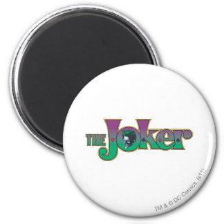 Le logo de nom de joker magnet rond 8 cm