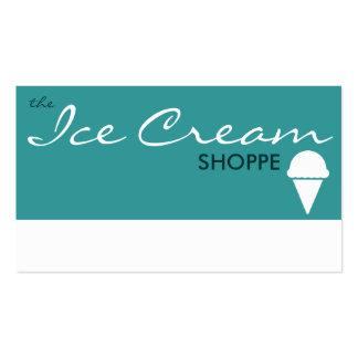 le magasin de CRÈME GLACÉE (couleur Carte De Visite Standard