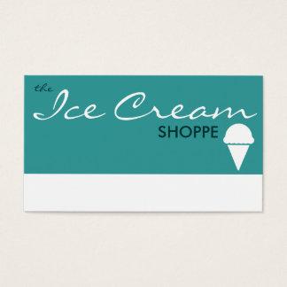 le magasin de CRÈME GLACÉE (couleur Cartes De Visite
