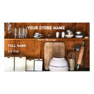 Le magasin vintage/font des cartes de visite cuire carte de visite