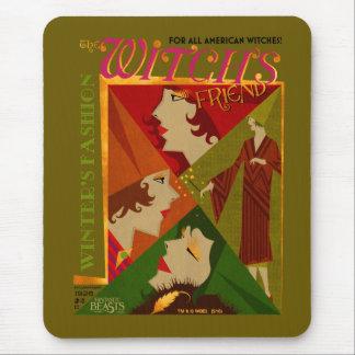 Le magazine de novembre de l'amie de la sorcière tapis de souris