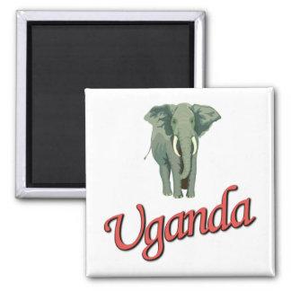 Le magnet d'éléphant africain magnet carré