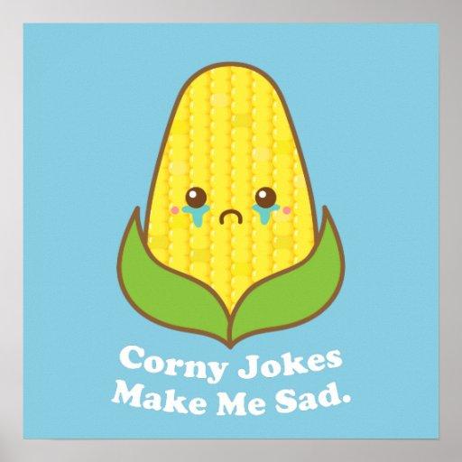 Le maïs de Kawaii, des plaisanteries bébêtes me Affiches