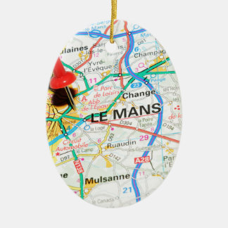 Le Mans, France Ceramic Ornament