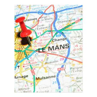Le Mans, France Letterhead