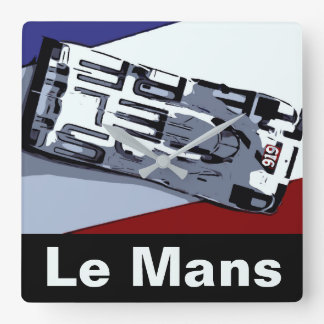 Le Mans HAT TRICK Square Wall Clock
