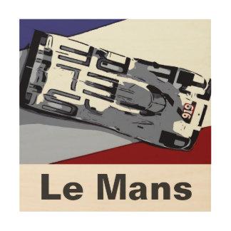 Le Mans HAT TRICK Wood Wall Art