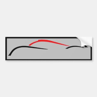 Le Mans prototype racer bumper sticker