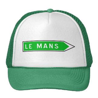 Le Mans, Road Sign, France Trucker Hat