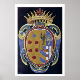 Le manteau de Medici-Lorena des bras, c.1638 (dur
