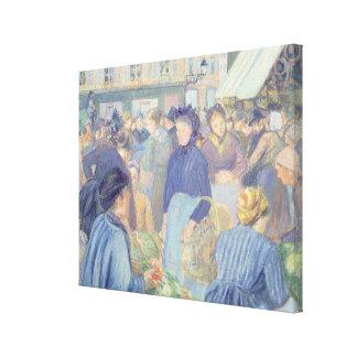 Le Marche de Gisors Canvas Print