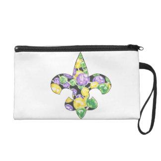 Le mardi gras de Fleur De Lis perle le sac de Bage Dragonne