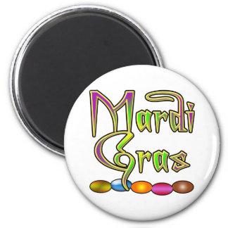 Le mardi gras perle l'habillement magnet rond 8 cm