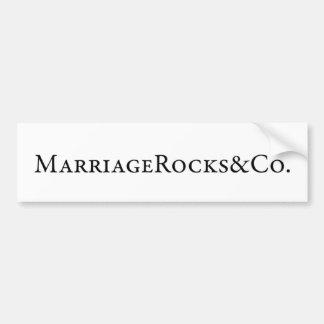 LE MARIAGE BASCULE LE PARE-CHOCS AUTOCOLLANT DE VOITURE
