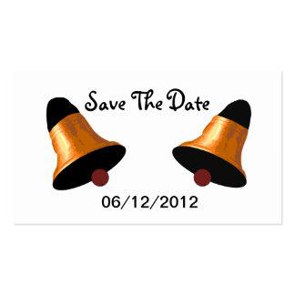 Le mariage Bells sauvent la carte de mariage de da Cartes De Visite Personnelles