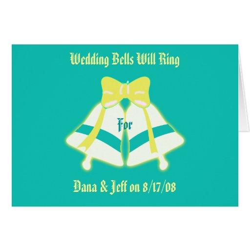 Le mariage Bells sonnera Carte