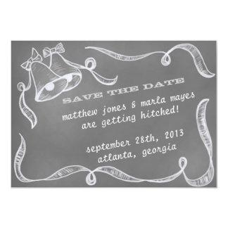 Le mariage Bells vintage de tableau font gagner la Carton D'invitation 12,7 Cm X 17,78 Cm