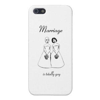 Le mariage est totalement gai - les couples femell coque iPhone 5