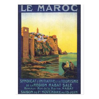 Le Maroc Vintage Travel Poster Postcard