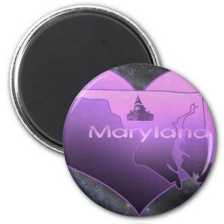 Le Maryland à la maison Magnet Rond 8 Cm