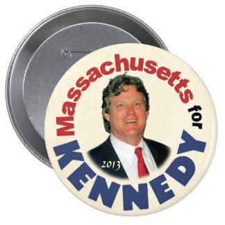 Le Massachusetts pour (Ted) Kennedy (Jr.) Macaron Rond 10 Cm