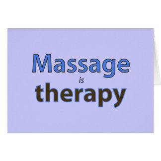 Le massage est thérapie carte de vœux