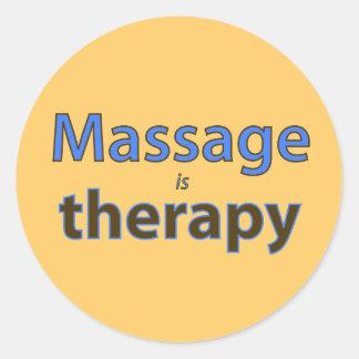 Le massage est thérapie sticker rond