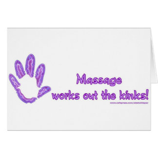 Le massage établit les replis carte de vœux