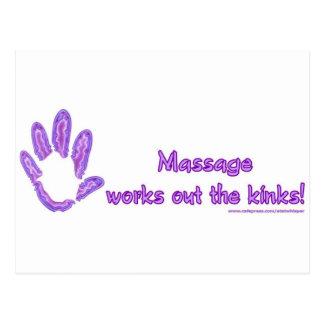 Le massage établit les replis carte postale