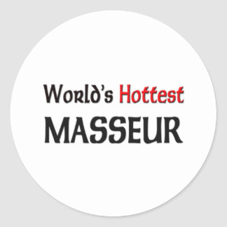 Le masseur le plus chaud des mondes sticker rond
