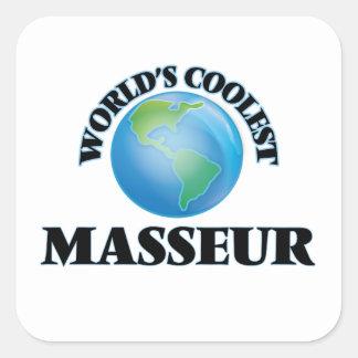 Le masseur le plus frais du monde sticker carré