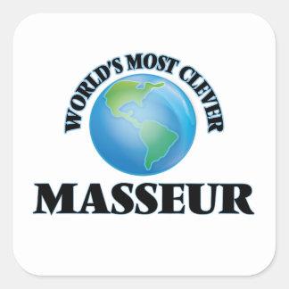 Le masseur le plus intelligent du monde sticker carré