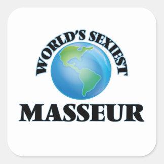 Le masseur le plus sexy du monde stickers carrés