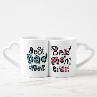 Le meilleur art des textes de papa de la meilleure mug