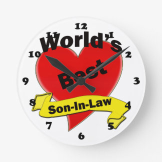 Le meilleur beau-fils du monde horloge ronde