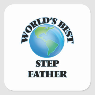 Le meilleur beau-père du monde sticker carré