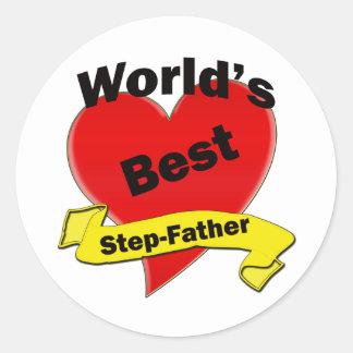 Le meilleur beau-père du monde sticker rond