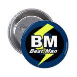 Le meilleur bouton d'homme badge