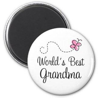 Le meilleur cadeau de papillon de la grand-maman d magnets pour réfrigérateur