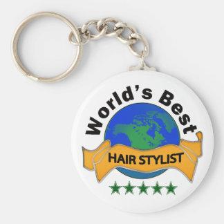 Le meilleur coiffeur du monde porte-clé rond