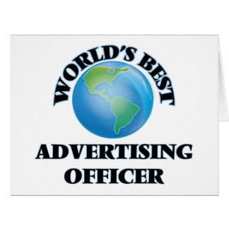 Le meilleur dirigeant de la publicité du monde carte de vœux grand format