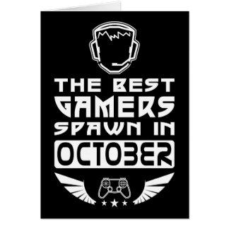 Le meilleur frai de Gamers en octobre Carte De Vœux