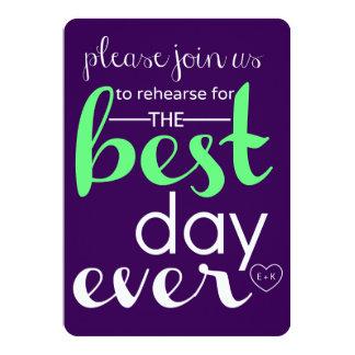 Le meilleur jour épousant jamais la COUTUME Carton D'invitation 12,7 Cm X 17,78 Cm
