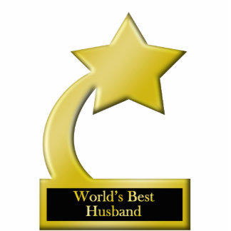 Le meilleur mari du monde, trophée de récompense d photo sculpture