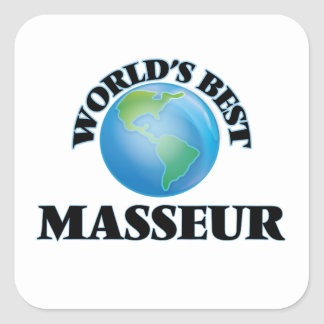Le meilleur masseur du monde sticker carré