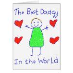Le meilleur papa au monde cartes de vœux