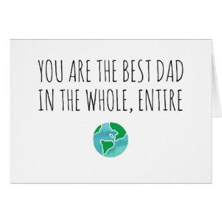 Le meilleur papa au monde entier et entier carte de vœux