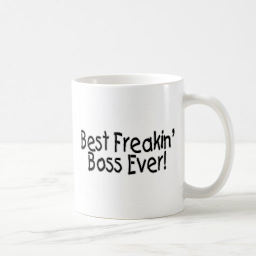 Le meilleur patron de Freakin jamais Mug À Café