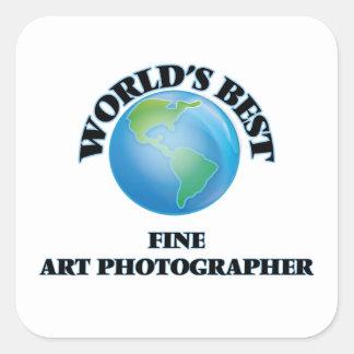 Le meilleur photographe des beaux-arts du monde sticker carré