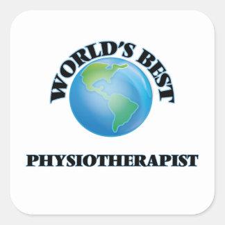 Le meilleur physiothérapeute du monde sticker carré